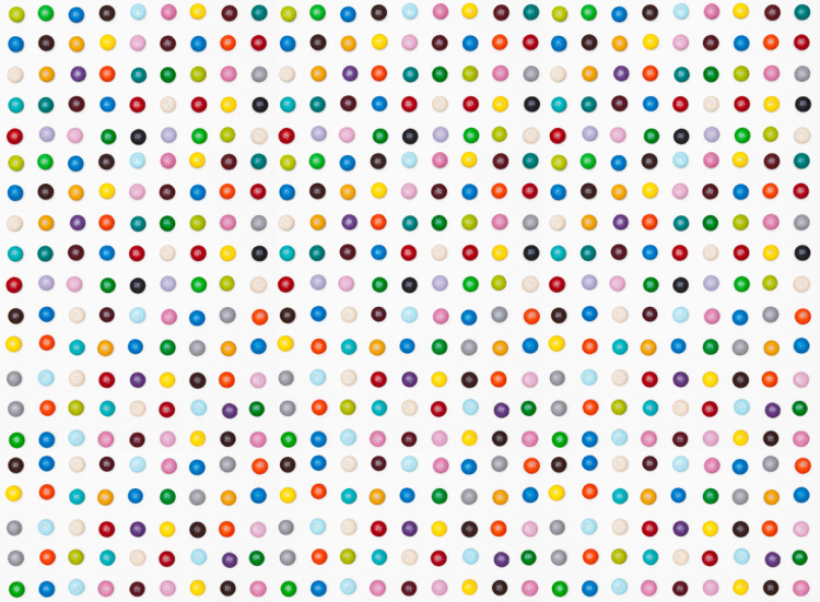 Damien Hirst S Spot Paintings Recreated With M Ms