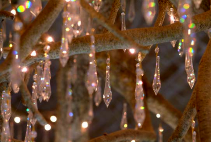 Magnificent Chandelier Shaped Like an Upside Down Tree