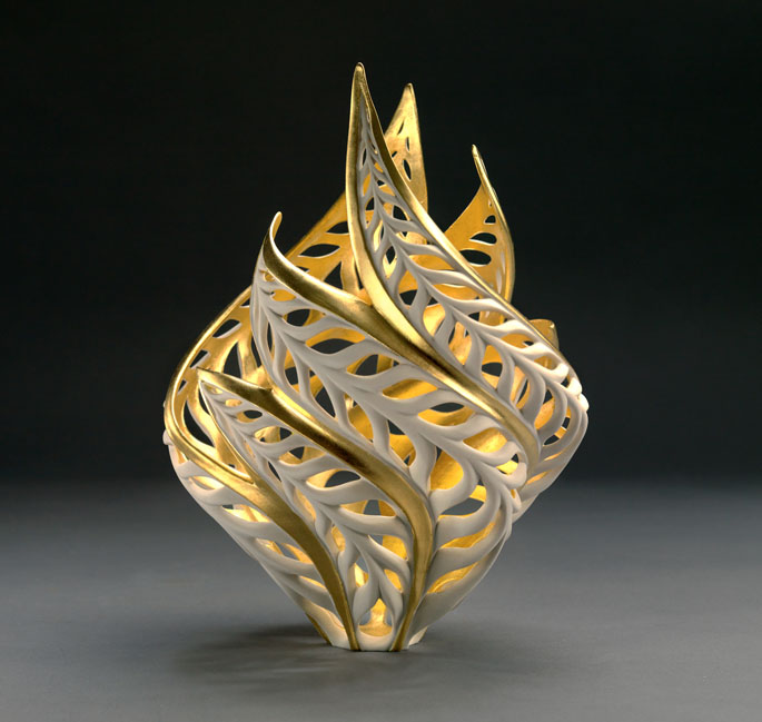 Nature Inspired Porcelain Sculptures Glow From Within
