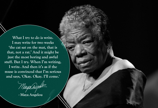 Maya Angelou quote on writing