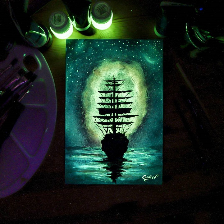 How To Use Glow In The Dark Acrylic Paint