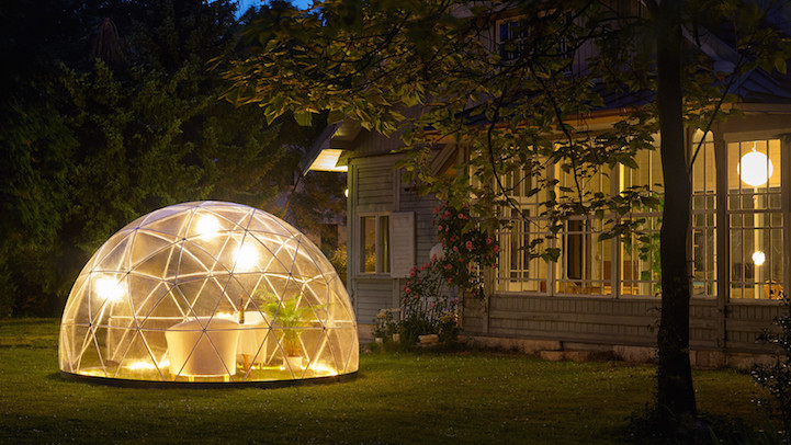 transparent igloo offers sanctuary to enjoy your garden year round. Black Bedroom Furniture Sets. Home Design Ideas