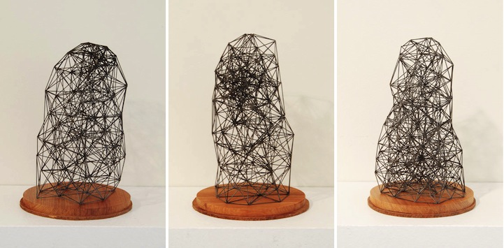 Incredible geometric pencil lead sculptures