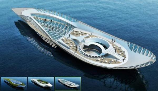 Cool Concept Whale Shaped Floating Garden Purifies Water - Physalia-a-huge-floating-garden-by-vincent-callebaut