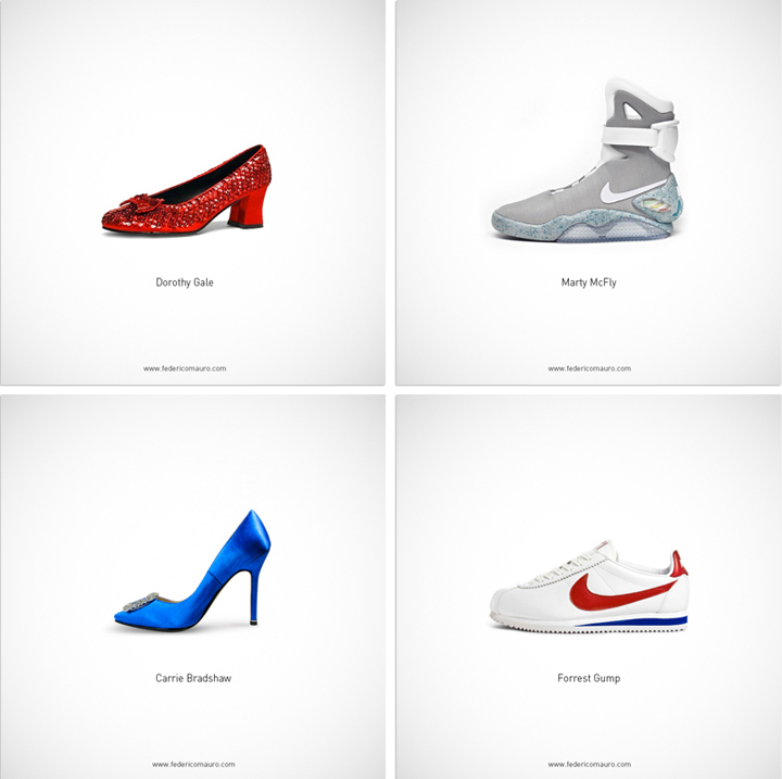 Iconic footwear perfectly symbolize famous personalities for Modern personalities