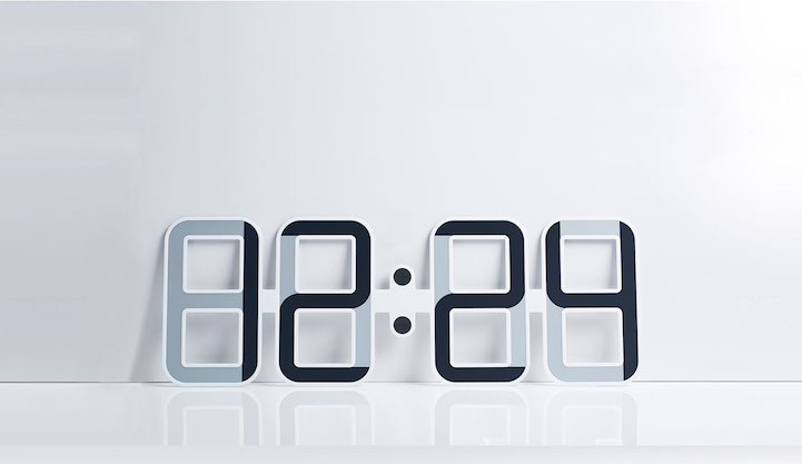 Elegantly Designed Digital Clock Uses E-Ink to Tell Time