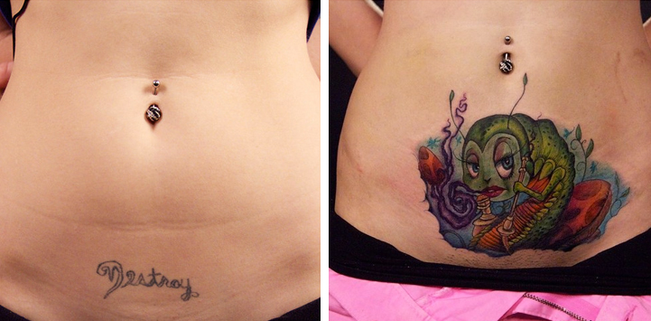 Creative Before and After Tattoos Transform Bad Body Art