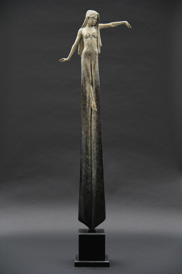 Beautifully Oxidized Bronze Sculptures of Elongated Women