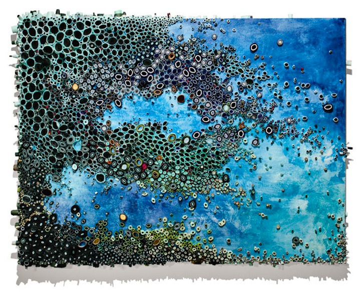 Intricate Textured Paintings Resemble Coral Reefs