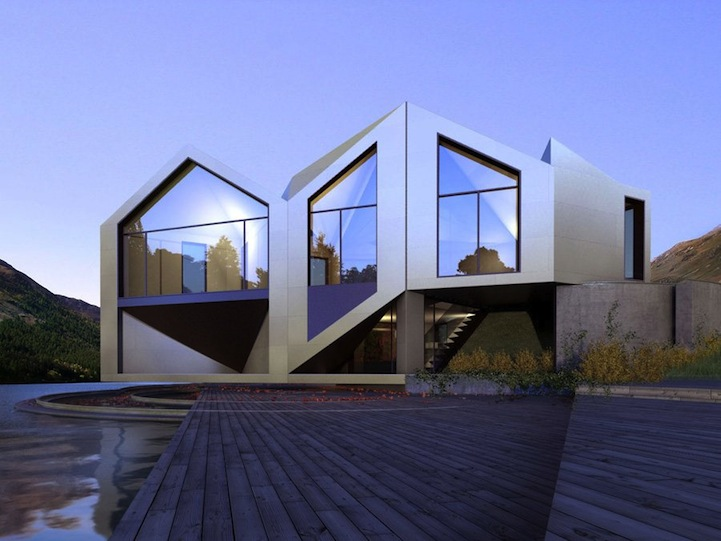 Origami House Shape Shifts Into Eight Configurations