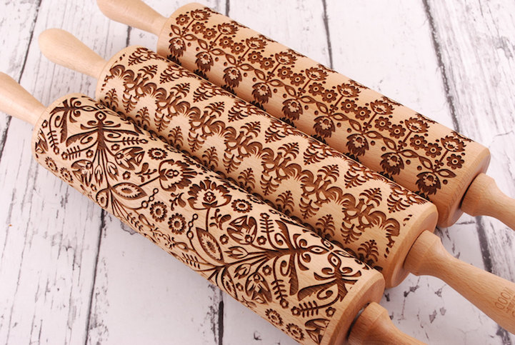 Laser Embossed Rolling Pins Imprint Playful Patterns into ...