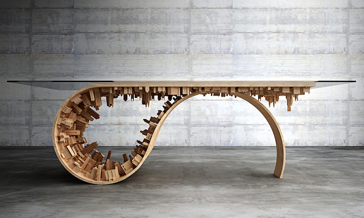New Quot Inception Quot Dining Table Designed With Gravity Defying