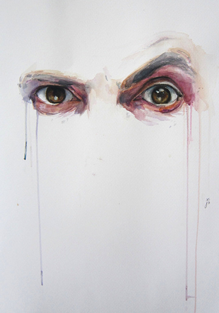 How To Sketch An Eye With Acrylic Paint Easy
