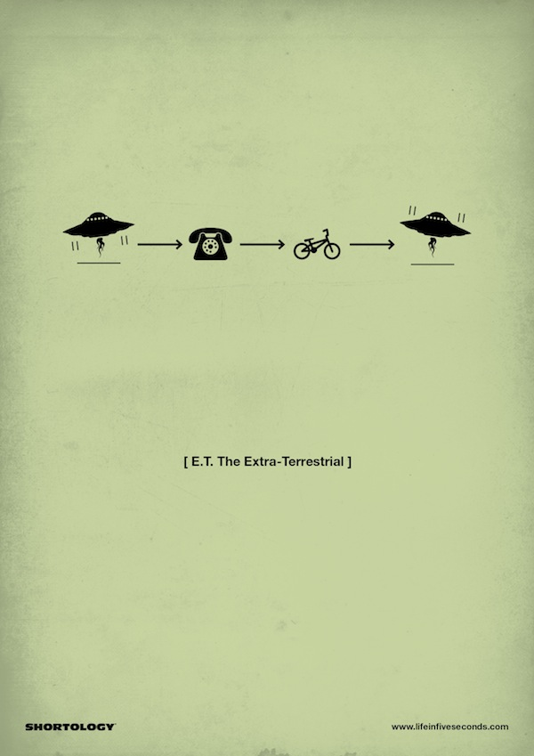 new clever pictogram movie posters by h