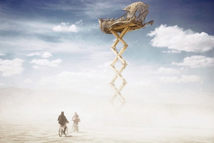 Surreal Burning Man Photos By Victor Habchy Will Blow Your