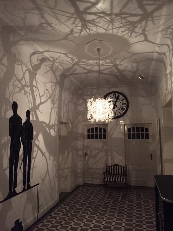 The Chandelier That Produces A Shadow Forest Of Wild Trees