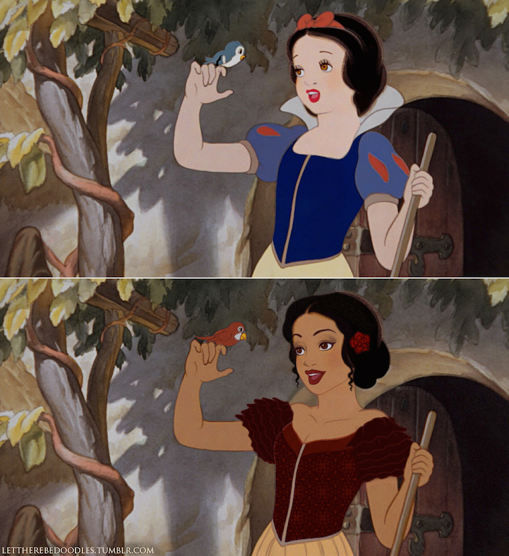Artist Reimagines Disney Princesses As Different Ethnicities