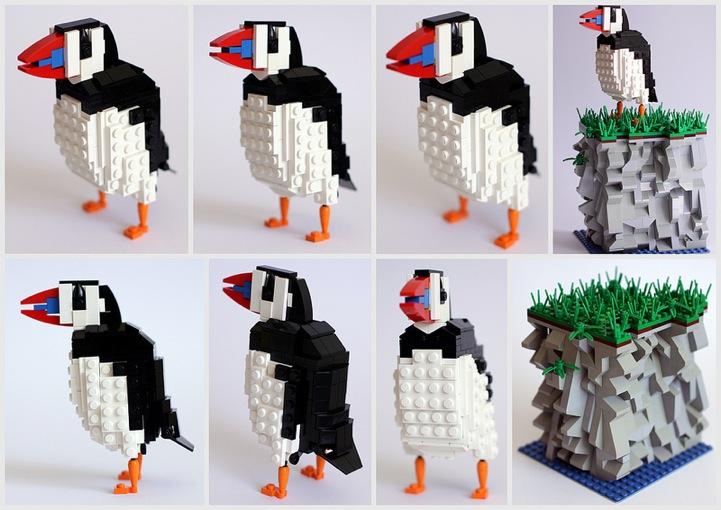 LEGO Sculptures of Popular British Birds
