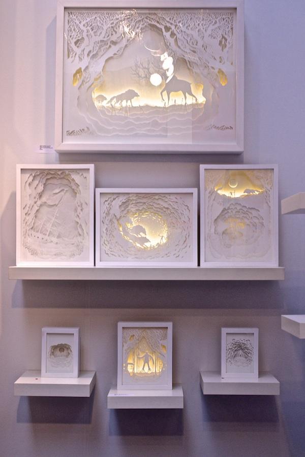 gorgeous papercut light boxes by hari deepti. Black Bedroom Furniture Sets. Home Design Ideas