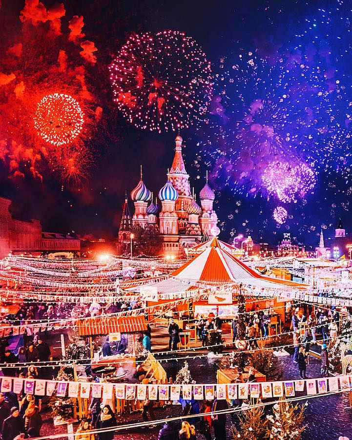 Sparkling City of Moscow Celebrates Orthodox Christmas in a Magical ...