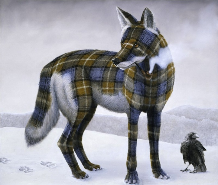 Wild Animals Wear Colorful Plaid Patterns In Delightful Painting Series