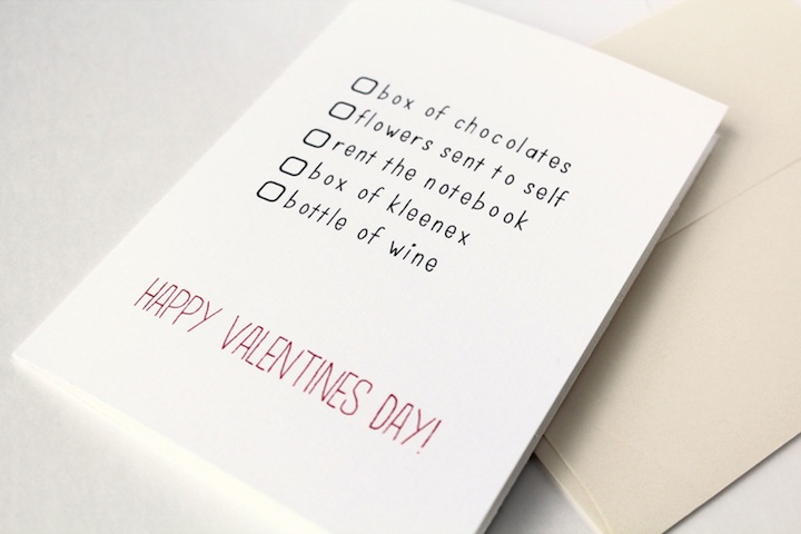 sarcastic valentines day cards