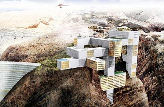 Modern architecture rak jebel al jais mountain resort for Mountain lodge architecture