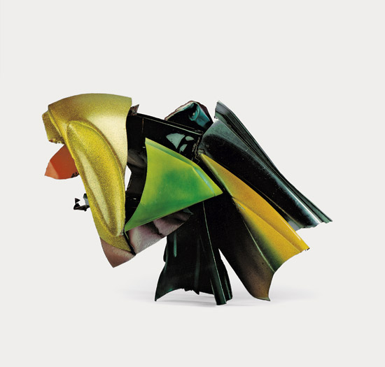 john chamberlain crushed car parts art guggenheim sculpture car art retrospective choices