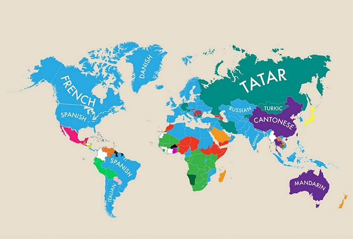 Infographic Reveals The Second Most Spoken Language In The World - Languages spoken by country
