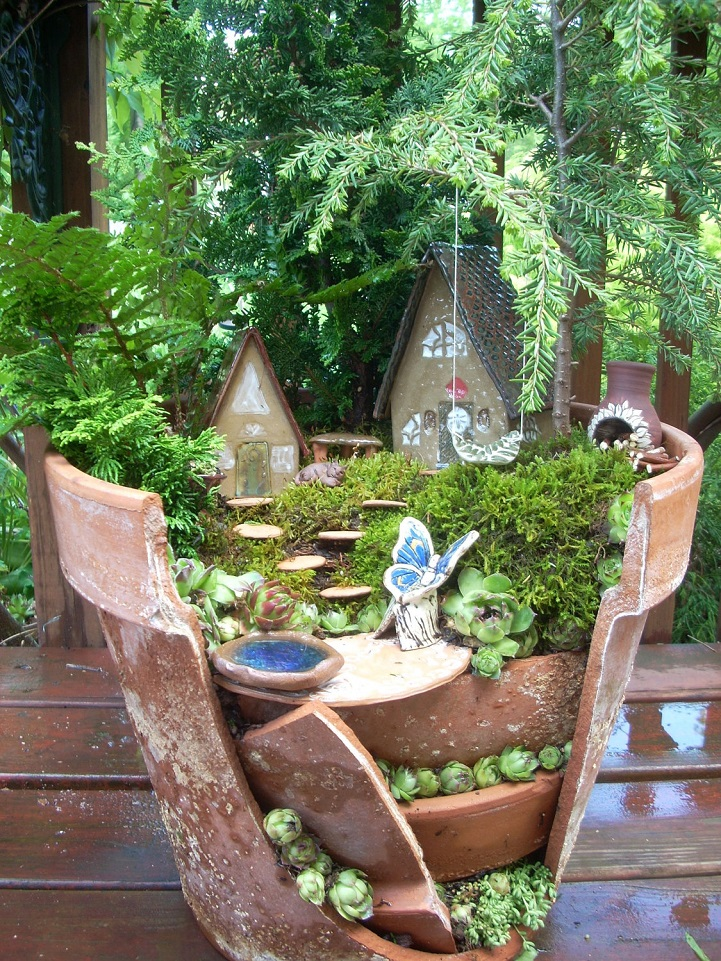 Whimsical DIY Project Transforms Broken Pots into Beautiful Fairy ...