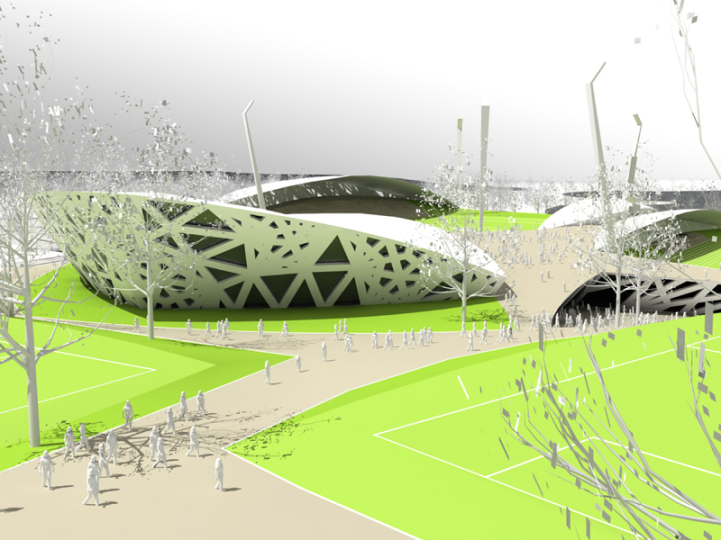 Sports park as urban space 5 pics for Outer space urban design