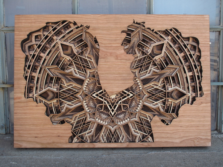 New Amazingly Intricate Laser Cut Wood Relief Silhouettes