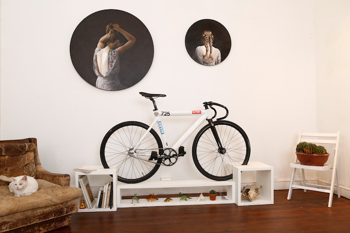Clever furniture designed to double as bike rack to save space in small apartments - Bike storage small space design ...