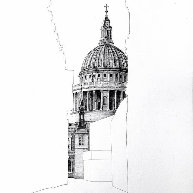 architectural drawings of buildings. Sainsbury\u0027s Clever Drawings Are A Recognition Of This Phenomenon And Demonstrated With Stunning Artistic Technique. Architectural Buildings
