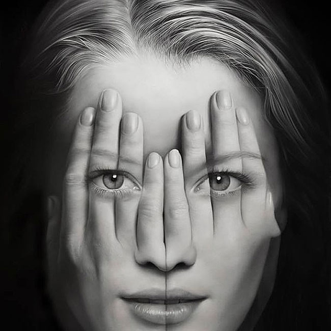 Hyperrealistic Quot Double Exposure Quot Paintings Reflect How