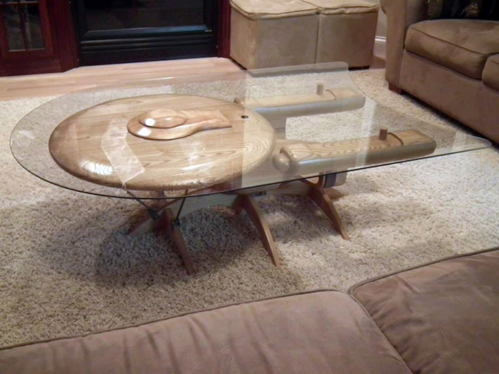 Craftsman Beautifully Fashions Ships From Star Wars And Star Trek Into  Coffee Tables