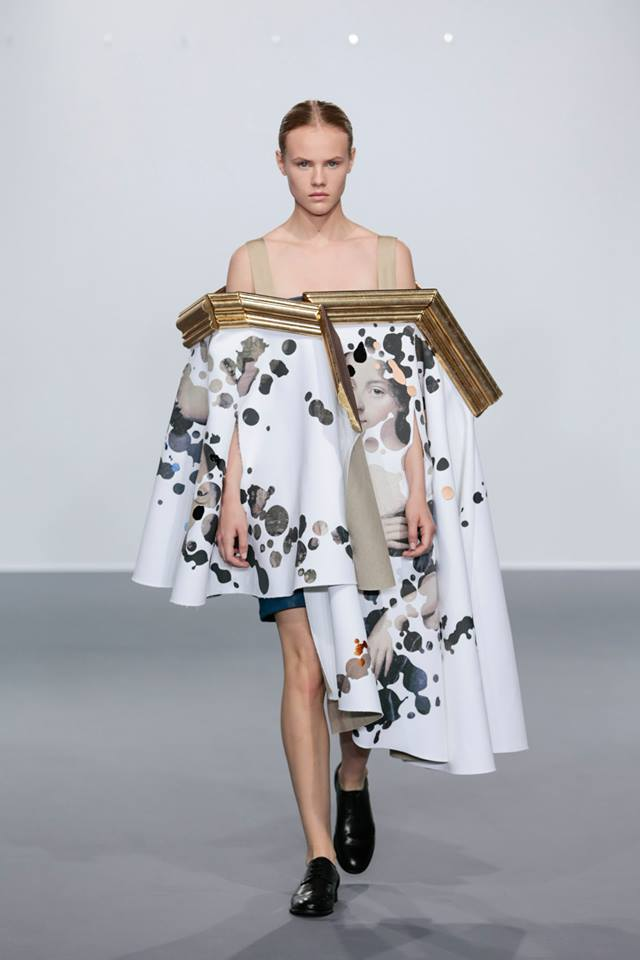 Framed Paintings Are Transformed Into Wearable Art During Fashion Show