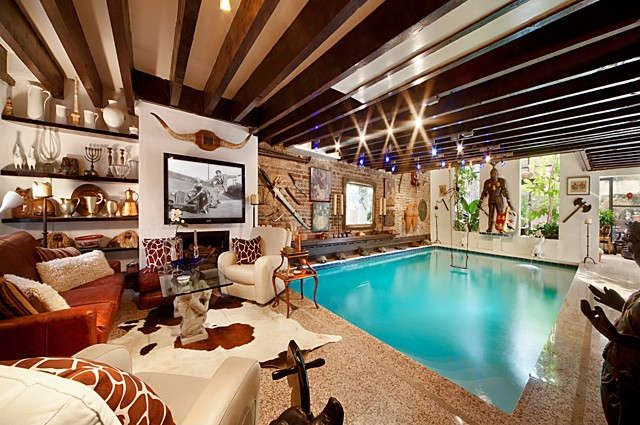 Manhattan Townhouse with Living Room Pool