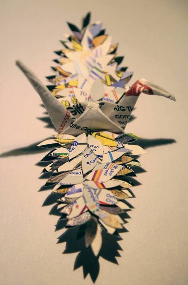 Some Cranes Incorporate The Environment With Flowers And Feathers Others Utilize Colored Pencils Paint Wire Complex Folding Techniques