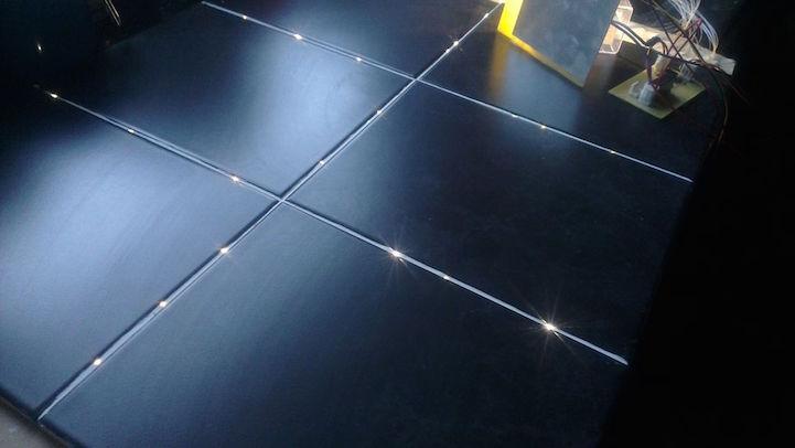 Star Floor Instructables page via [Demilked] & Fiber Optic Lights Turn a Bathroom Floor into Starry Night Sky azcodes.com