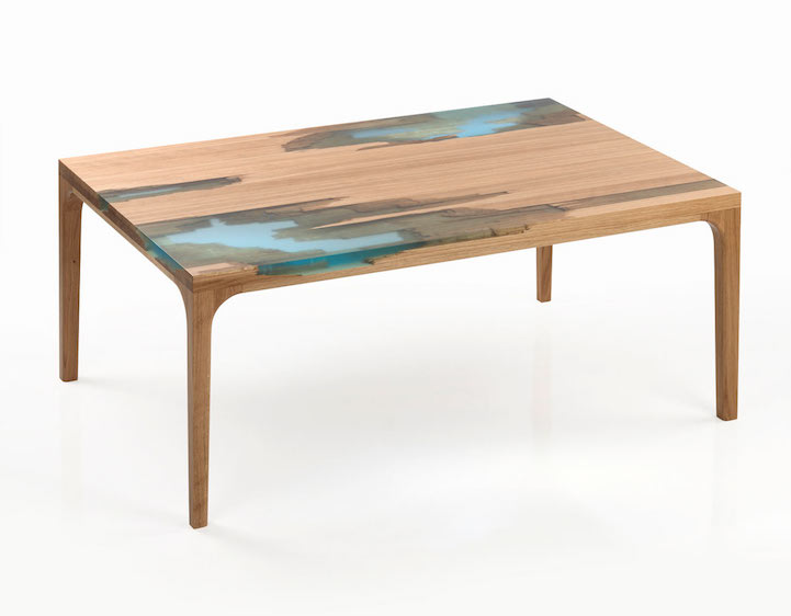 "Eco Friendly Furniture Uses Glowing Bio Resin to ""Self"