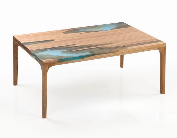 EcoFriendly Furniture Uses Glowing Bio Resin to Self Heal