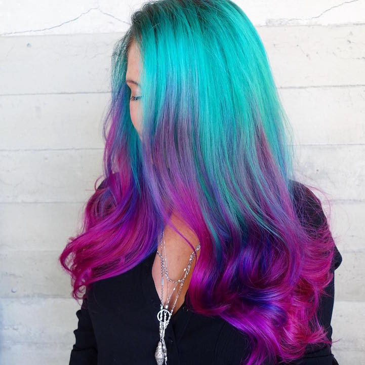 Quot Mermaid Hair Quot Trend Has Women Dyeing Hair Into Sea