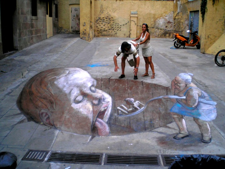 Incredibly Surreal 3D Street Art Illusions
