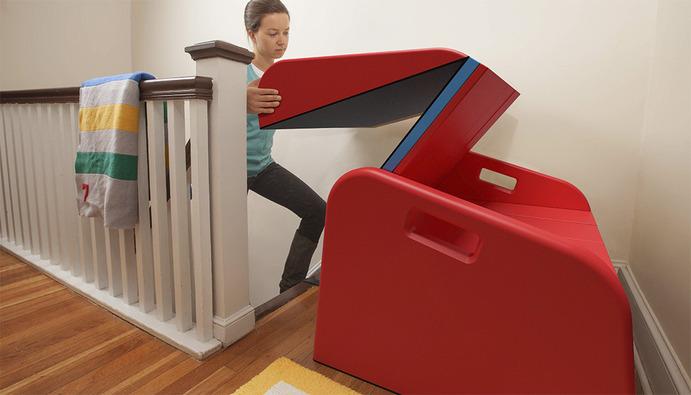 Beautiful SlideRider Foldable Indoors Slide SlideRider Indoors Stair Slide