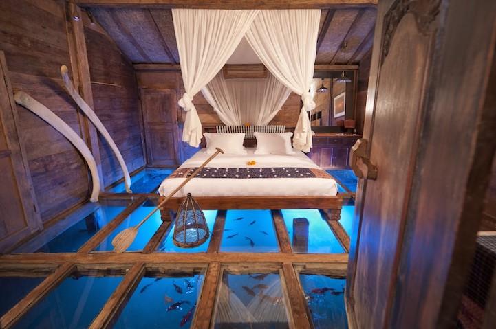 Amazing Room's Glass Floor Reveals Underwater Wonders