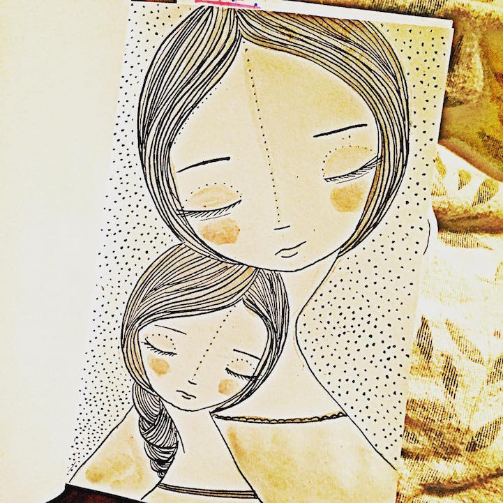 Artist Celebrates Joys Of Motherhood With Illustrations Of Mothers