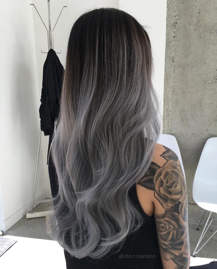 Gray Ombre Hair Trend Turns Locks In Silver Ombre Delight