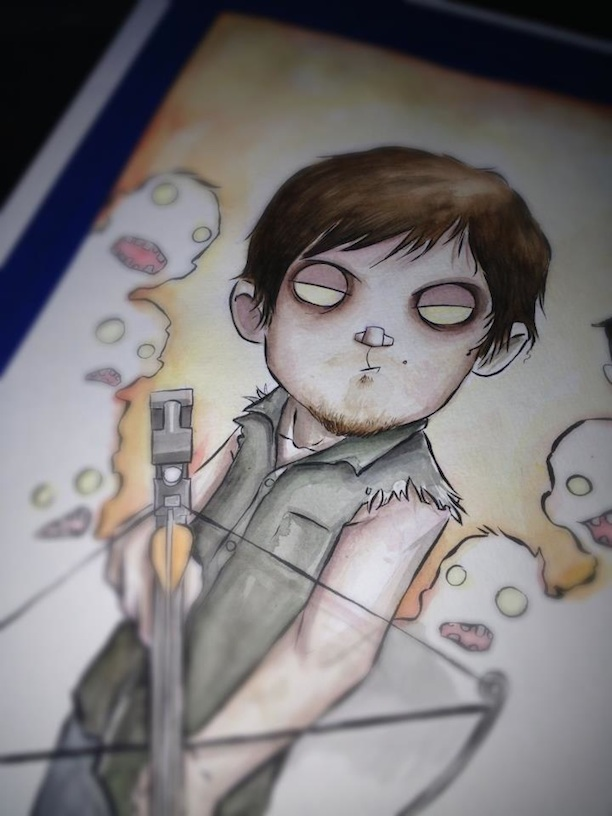 The Walking Dead Characters In Watercolors And Ink