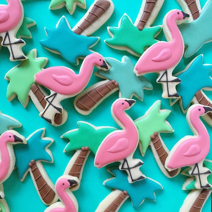 Holly Fox illustrated cookies